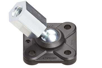 Flange bearing with ball stud, female thread, GFSM-IG igubal®