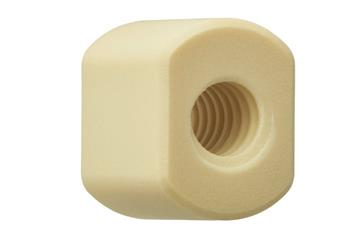 drylin® trapezoidal lead screw nut with spanner flats, WSLM