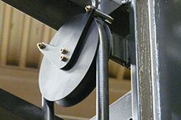 Guide roller with chainflex® cable in the lifting gear