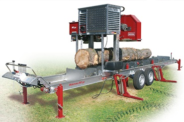 "Mobile wide band sawmill ""Montana"" for log diameters up to 90 cm uses iglidur plain bearings"