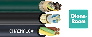 Cables for cleanroom applications