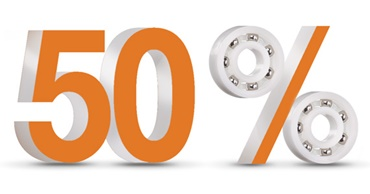 Up to 50% more cost-effective than metal ball bearings